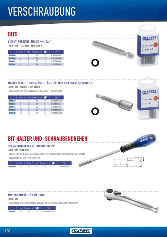 Expert RATSCHEN-SCHRAUBENDREHER MIT ABGEWINKELTEM GRIFF E160802