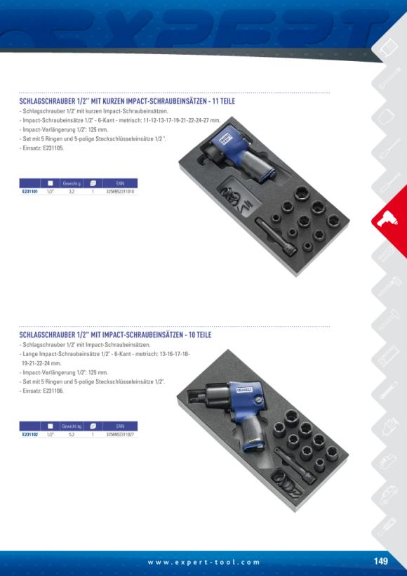 """Expert 14 STÜCK 1/2"""" SD IMPACT DEEP SOCK.SET E041602"""