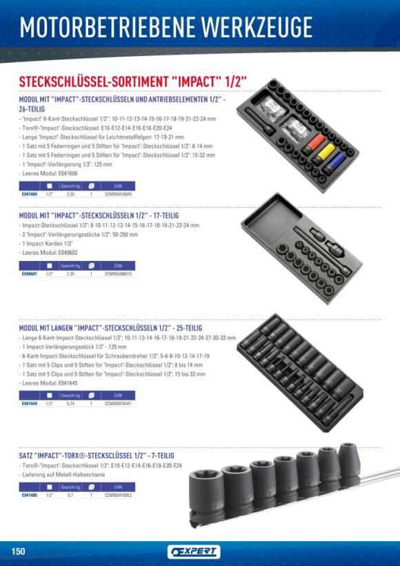 Expert SATZ 5 RINGE UND STIFTE - 1/2' 8-14MM E117884