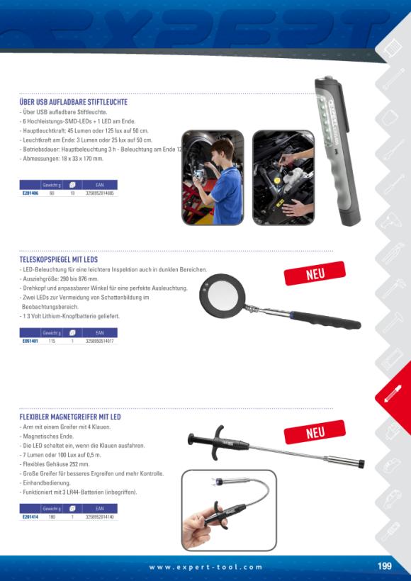 Expert USB-LAMPE FÜR WIEDERAUFLADBAREN KUGELSCHREIBER E201406
