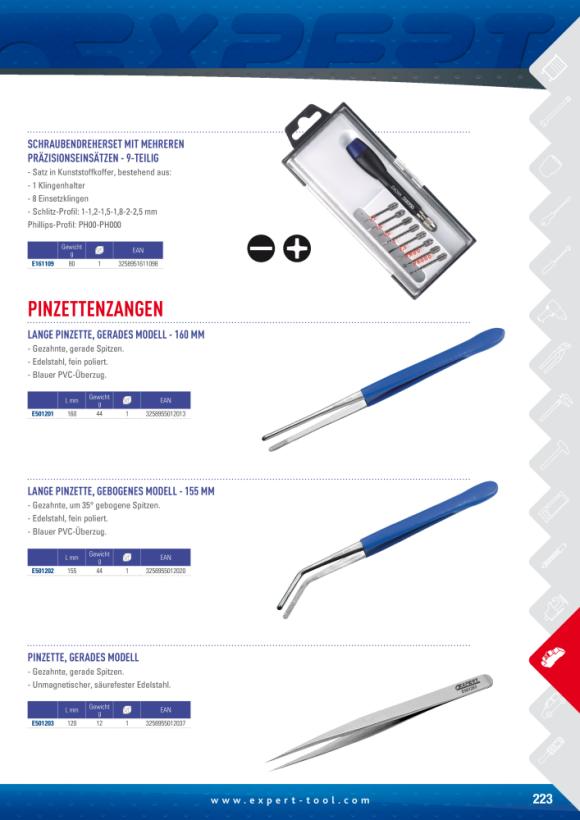 Expert NICHT MAGNETISCHE PINZETTE - 120 MM E501203