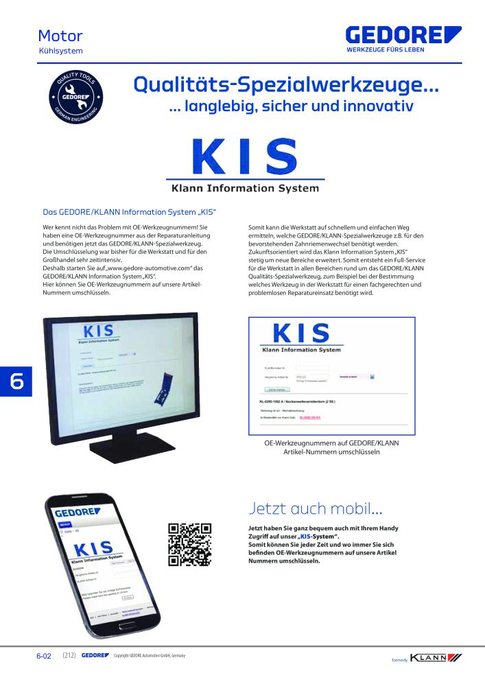 sale Genieße den kostenlosen Versand niedrigerer Preis mit KLANN by Gedore Hauptkatalog Spezialwerkzeuge - Page 212