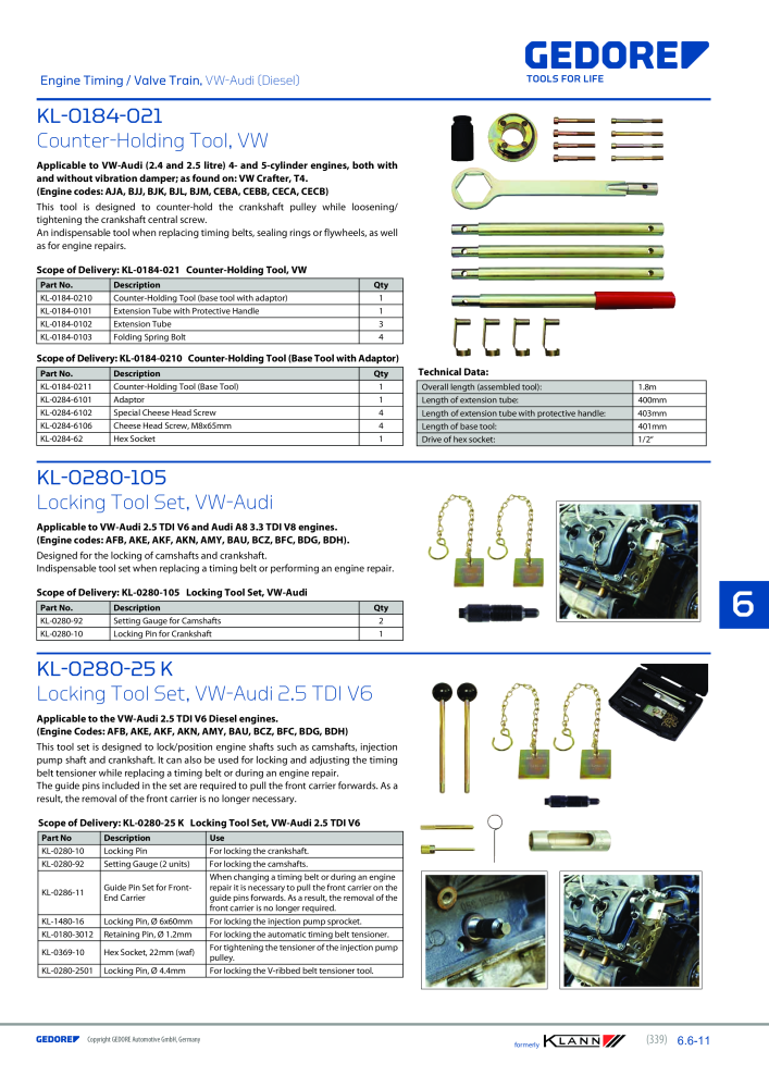 KLANN by Gedore Main catalog Special tools - Page 339