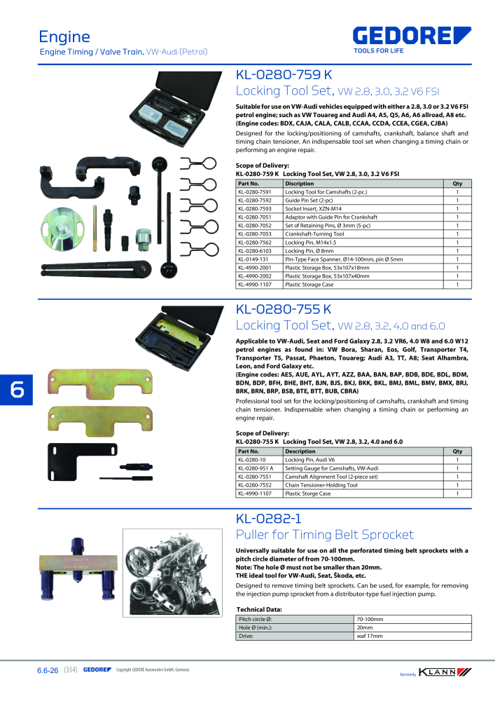 KLANN by Gedore Main catalog Special tools - Page 354