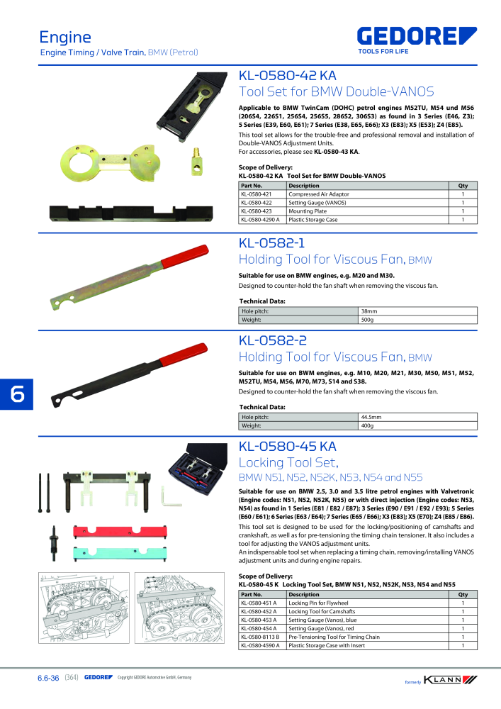 KLANN by Gedore Main catalog Special tools - Page 364