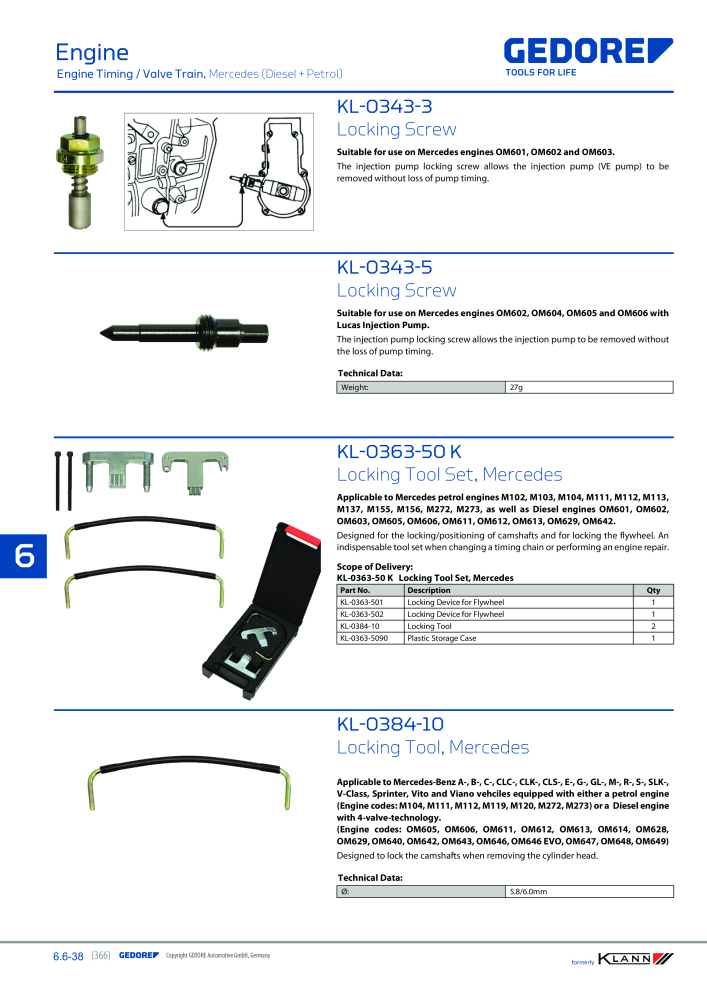 KLANN by Gedore Main catalog Special tools - Page 366