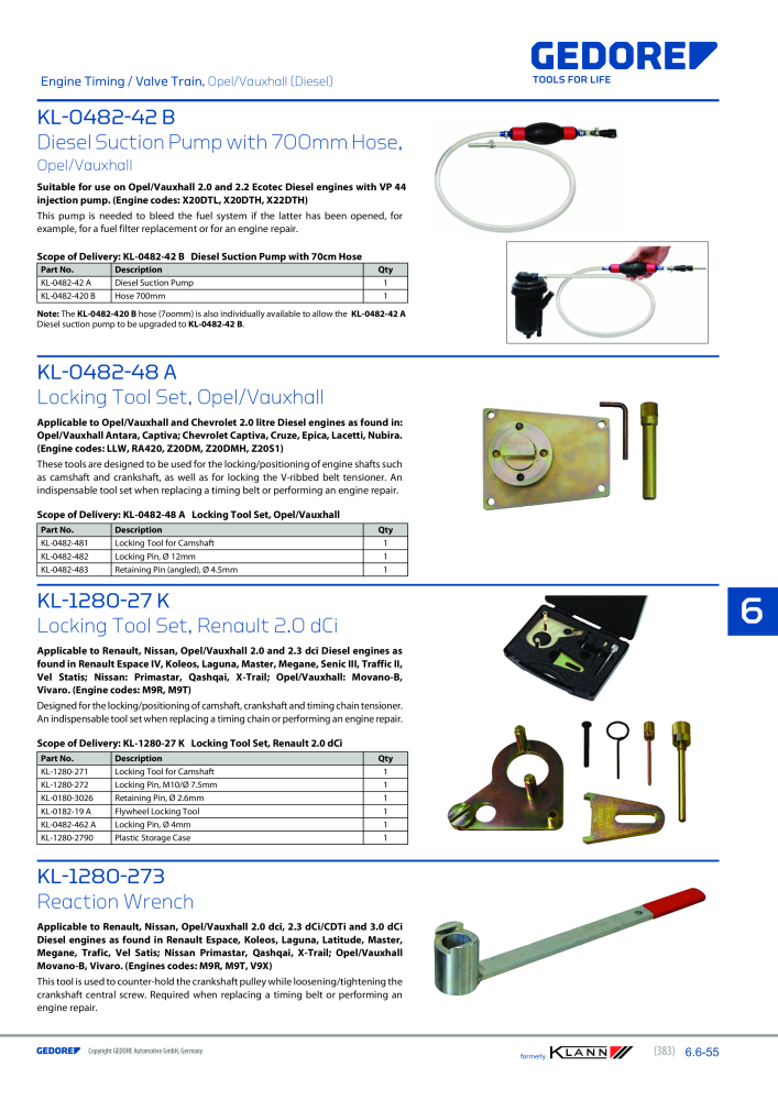 KLANN by Gedore Main catalog Special tools - Page 383