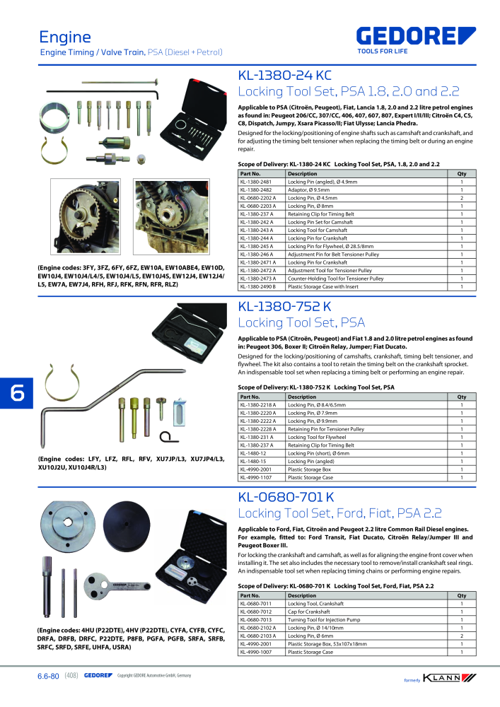 KLANN by Gedore Main catalog Special tools - Page 408
