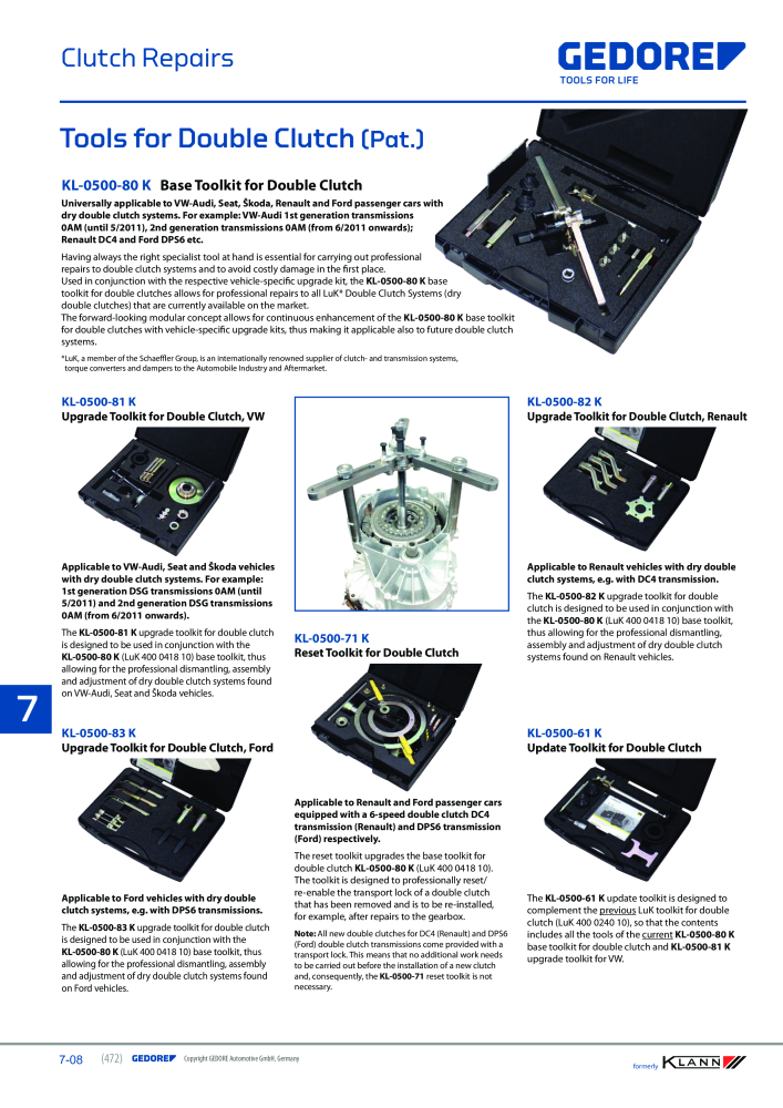 KLANN by Gedore Main catalog Special tools - Page 472