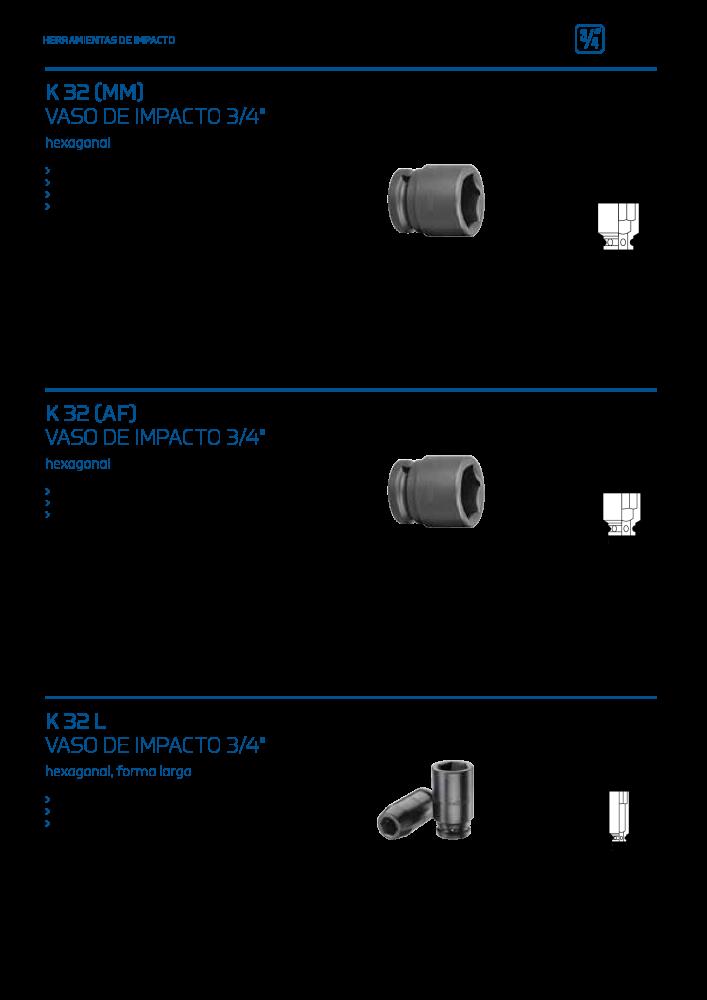 Gedore K 32 22 Vaso de impacto 3//4 22 mm