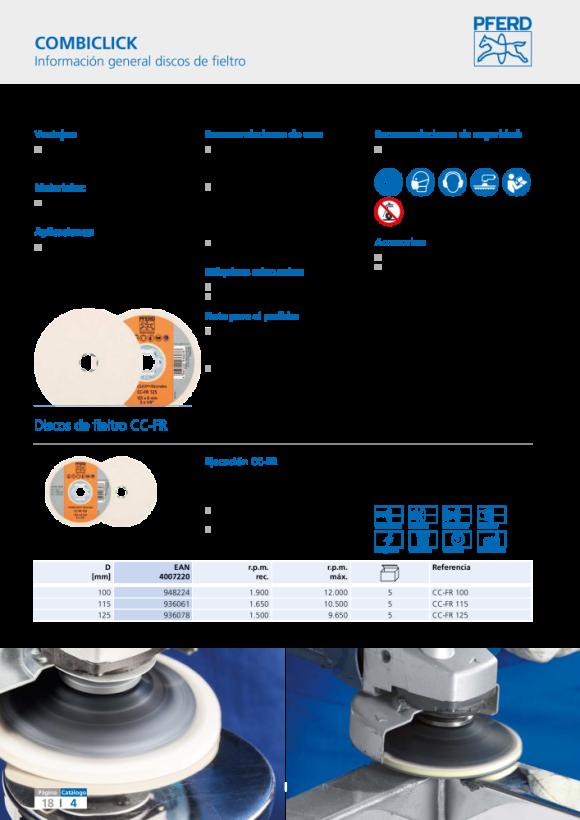 PFERD Plato de apoyo COMBICLICK CC-GT 115-125 5/8 44890160