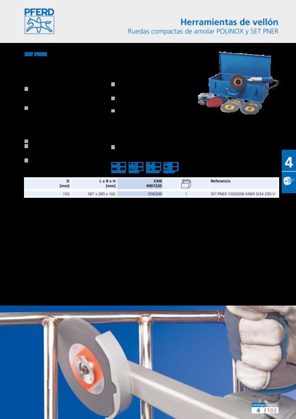 PFERD Discos compactos POLINOX DISC PNER-MW 115-22,2 SiC F 44690722