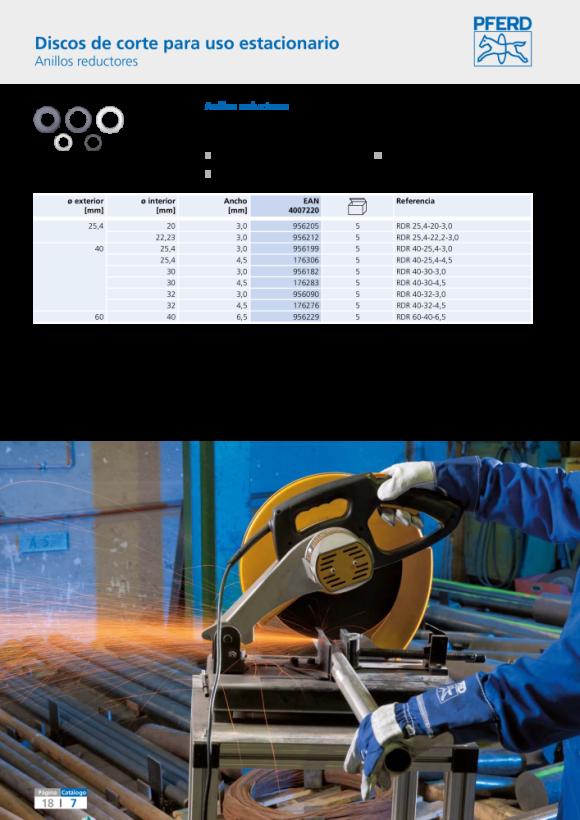 PFERD Anillo reductor RDR 40-32-3,0 69900170