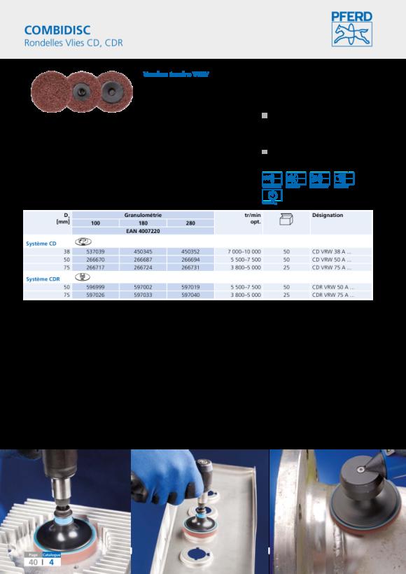 PFERD Rondelles de non-tissé COMBIDISC CD PNER-H 7506 A F 42759152