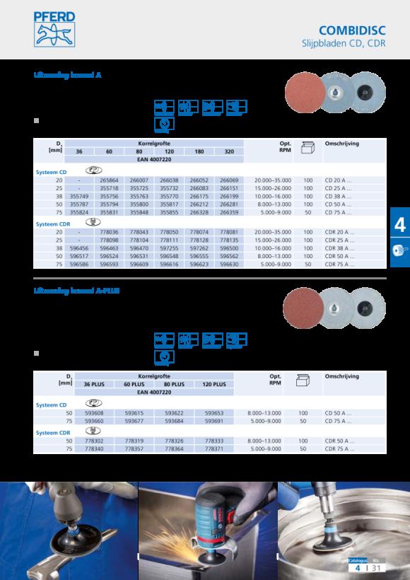 PFERD COMBIDISC®-slijpblad CD 50 A 120 42750512