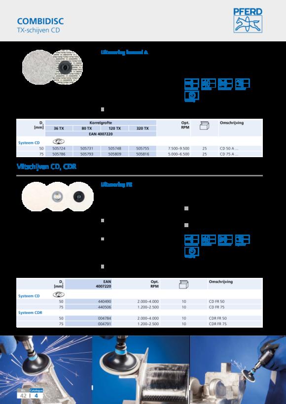 PFERD COMBIDISC-slijpbladhouder SBH 50 H 42721501