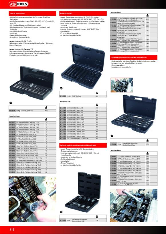 """KS Tools 1/2"""" Bit-Stecknuss Innen6kant, lang, 13mm 911.1963-E"""