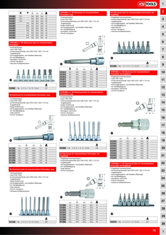 """KS Tools 3/8"""" Bit-Stecknuss Innen6kant, lang, 10mm, auf Hänger 911.1566-E"""