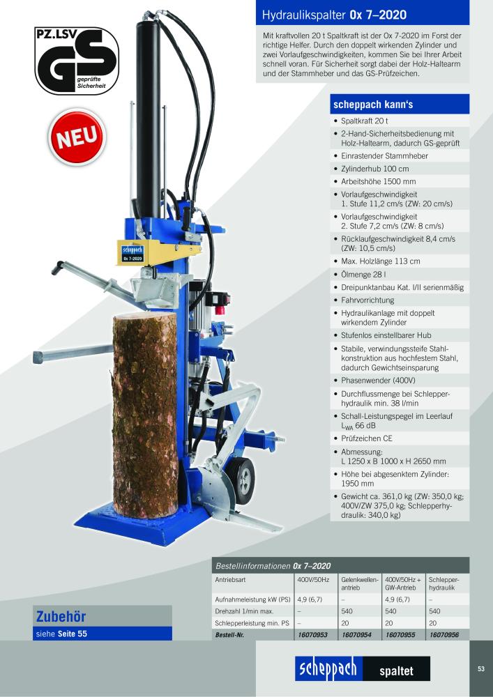 Holzspalter Spaltzylinder passend Scheppach HL800 400V