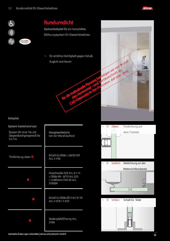 athmer dichtungssysteme fuer tueren und tore profi katalog 2016 seite 89. Black Bedroom Furniture Sets. Home Design Ideas