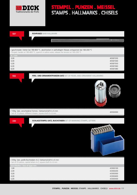 DICK Flachmeissel Nr. 575 Länge: 150 mm Bahnbreite: 10 mm 40575100