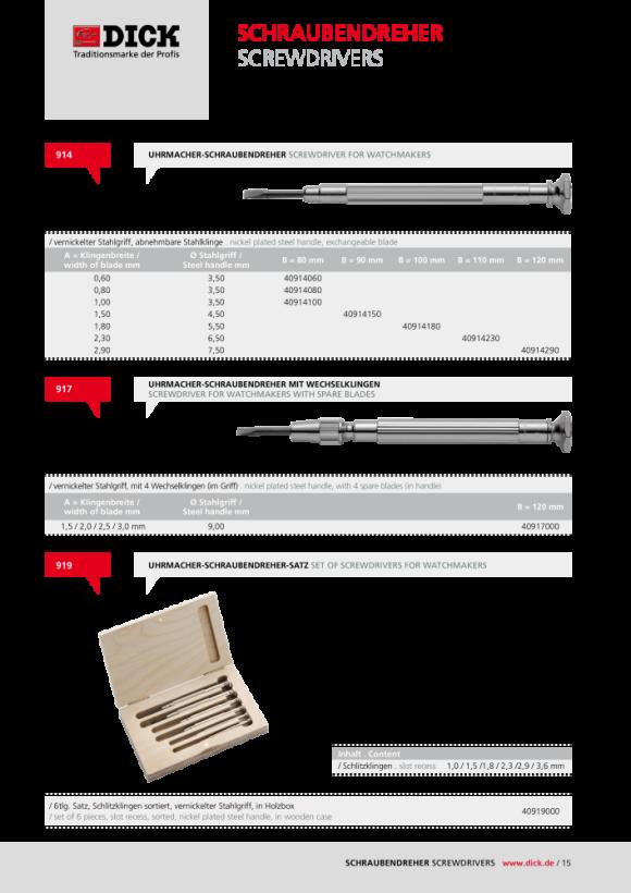 DICK Blechpinzette Nr. 1291 140mm 41291140
