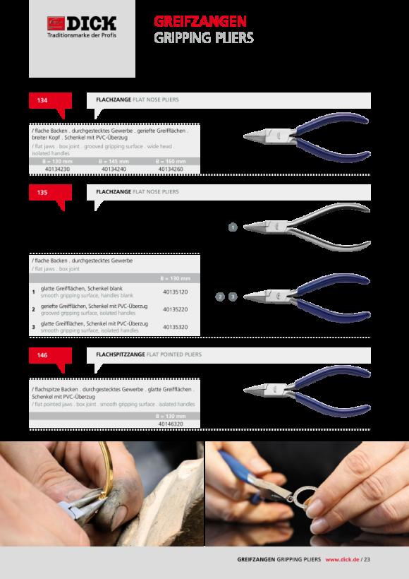 DICK Werkzeughalter Nr. 1125 Länge: 105 mm, Spannbereich: 1,2-2 mm 41125200