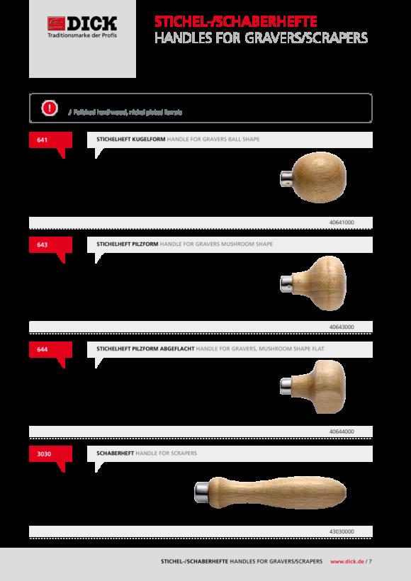 DICK Ovaler Stichel Nr. 556 Länge: 80 mm WS Abmessung: 4,5 x 2,1 mm 40556040