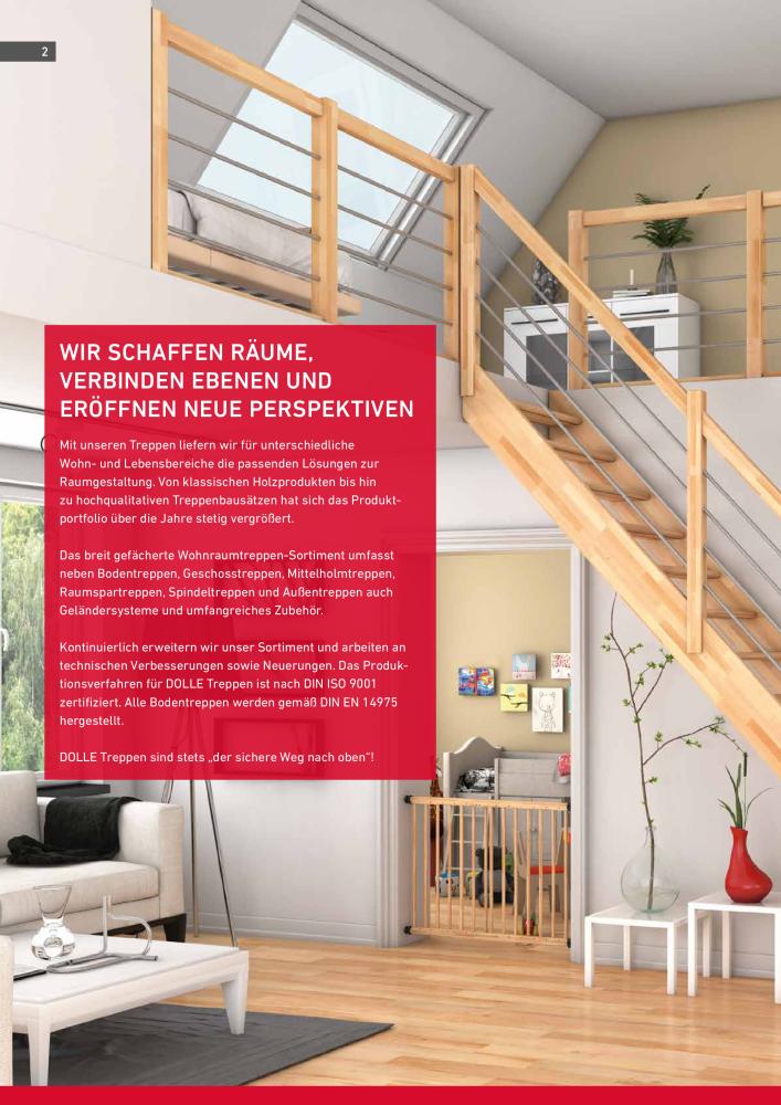DOLLE Hauptkatalog Treppen Spindeltreppen Systemtreppen Raumspartreppen  Außentreppen Geländer Bodentreppen   Page 2