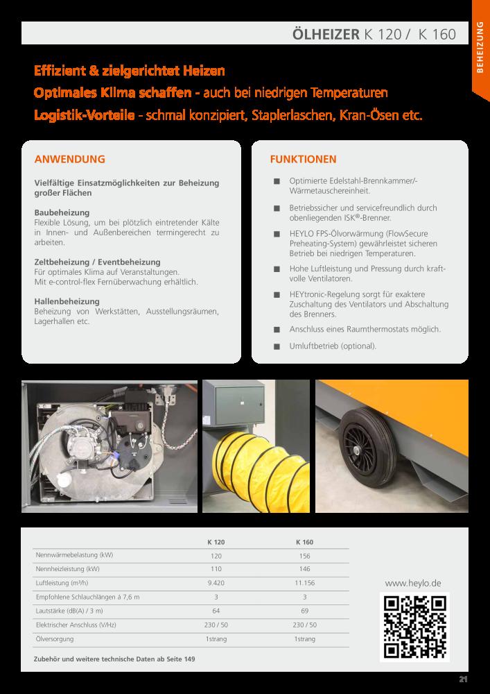 HEYLO Hauptkatalog Luftsysteme Beheizung Trocknung Ventilation ...